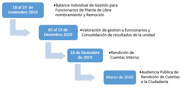 cronograma 2019