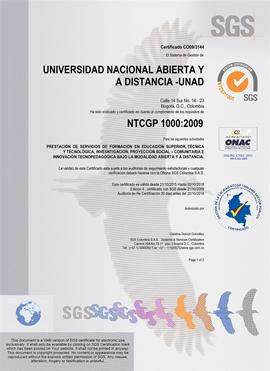 Certificado NTCGP 1000