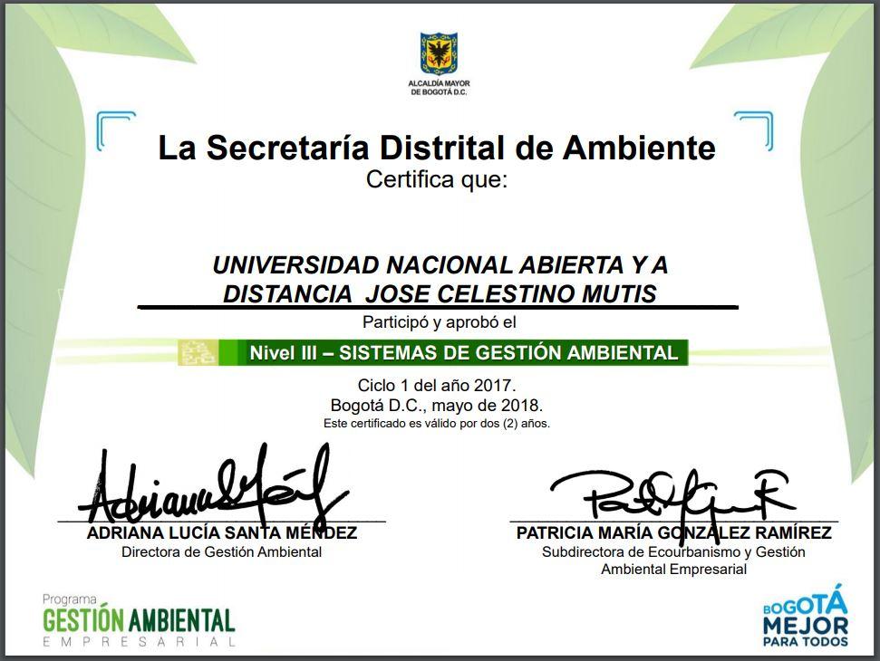 Certificado Nivel III